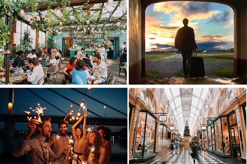 Recompense - restaurant, voyage, shopping