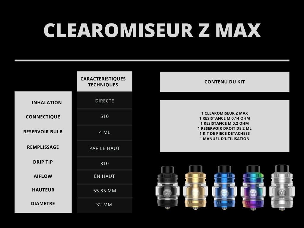 Clearomiseur Z Max Geekvape