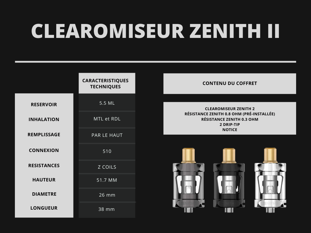 Cigusto Clearomiseur Zenith 2 Innokin