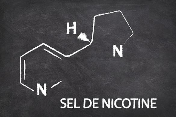 Sel de nicotine e liquide pour cigarette electronique